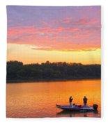 Fishing For Gold Fleece Blanket