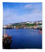 Fishing Harbour, Dunmore East, Ireland Fleece Blanket