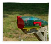 Fishing Lure Mailbox 1 Fleece Blanket