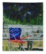 Fishing On Memorial Day Fleece Blanket