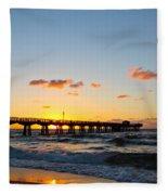 Fishing Pier Fleece Blanket