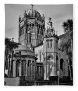 Flagler Memorial Presbyterian Church 3 - Bw Fleece Blanket