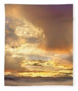 Flagstaff Fire Sky Boulder Colorado Fleece Blanket