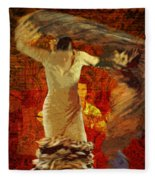 Flamenco Series No 2 Fleece Blanket