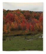 Flaming Foliage Autumn Pasture Fleece Blanket