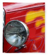 Flaming Hot Rod 2 Fleece Blanket