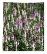 Flamingo Feather Flowers Fleece Blanket