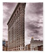 Flat Iron Building Fleece Blanket