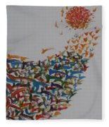 Fleet Of Birds Fleece Blanket
