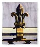 Fleur De Lis Painted Fleece Blanket