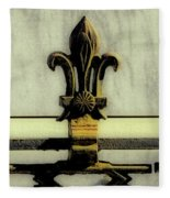Fleur De Lis Two Fleece Blanket