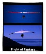 Flight Of Fantasy With Caption Fleece Blanket