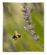 Flight Of The Bumble Fleece Blanket