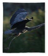 Flight Of The Heron Fleece Blanket