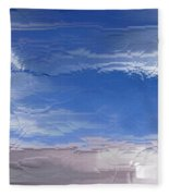 Flight Under Glass Fleece Blanket