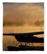 Float Plane, Long Lake, Sudbury, Ontario Fleece Blanket