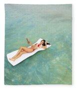 Floating At Sea Fleece Blanket