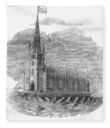 Floating Church, 1849 Fleece Blanket