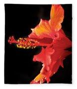Floating Hibiscus Fleece Blanket