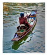 Floating Market Fleece Blanket