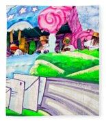 Floating Thru Mardi Gras 4 Fleece Blanket