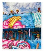 Floating Thru Mardi Gras Fleece Blanket