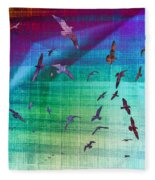 Flock Of Seagulls Fleece Blanket