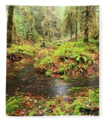 Flood In The Forest Fleece Blanket