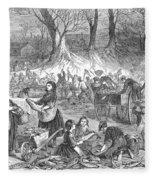 Flood Of Fish, 1867 Fleece Blanket