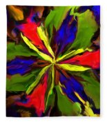 Floral Abstraction 090312 Fleece Blanket