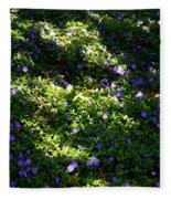Floral Carpet Fleece Blanket