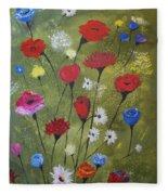 Floral Fields Fleece Blanket