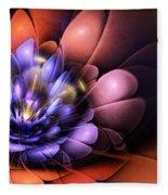 Floral Flame Fleece Blanket