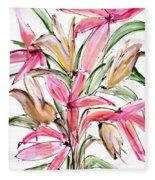 Floral Fourteen Fleece Blanket
