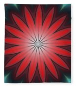 Floral Geometric 102311a Fleece Blanket