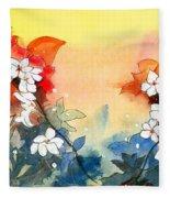 Floral Neklace Fleece Blanket