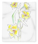 Floral Paintings 2 Fleece Blanket