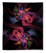 Floral Rose Edgy Abstract Fleece Blanket
