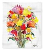 Floral Seven Fleece Blanket
