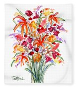 Floral Six Fleece Blanket