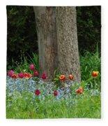 Floral Surrounding Fleece Blanket