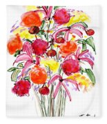 Floral Thirteen Fleece Blanket