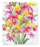 Floral Twelve Fleece Blanket
