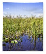 Florida Everglades 5 Fleece Blanket