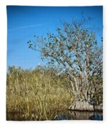 Florida Everglades 8 Fleece Blanket