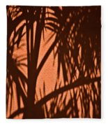 Florida Palm Shadow Fleece Blanket