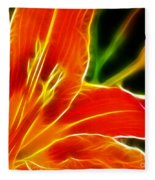 Flower - Lily 1 - Abstract Fleece Blanket
