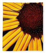 Flower - Yellow And Brown - Abstract Fleece Blanket