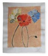 Flower And Bud Fleece Blanket