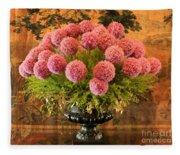 Flower Arrangement Chateau Chenonceau Fleece Blanket